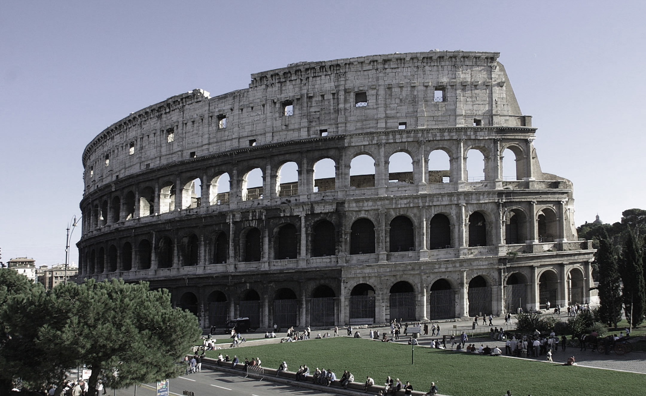 A photo I took of the Coliseum in Rome March 2007.
